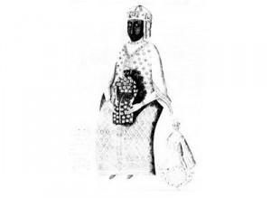 Gravure vierge noire