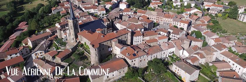 Vue aérienne de St Pal de Chalencon